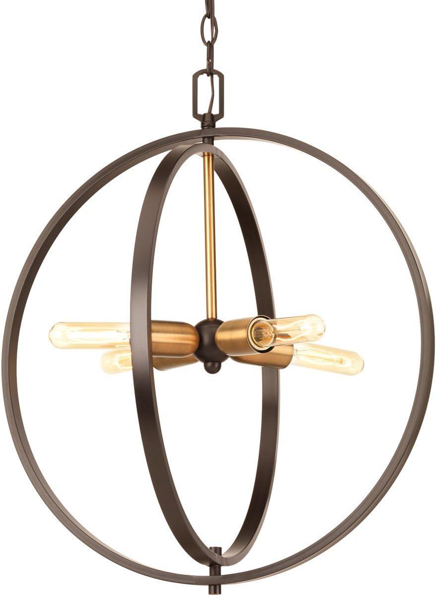Progress Lighting P5190-20 Traditional//Casual 4-60W Med Pendant Antique Bronze