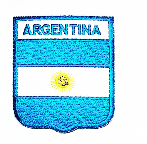 HHO ARGENTINA Country Flag Patch National flag Patch Embroidered DIY Patches, Applique Sew Iron on for everyone Craft Patch for Bags Jackets Jeans Clothes Patch Jacket T-shirt Sew Iron on ()