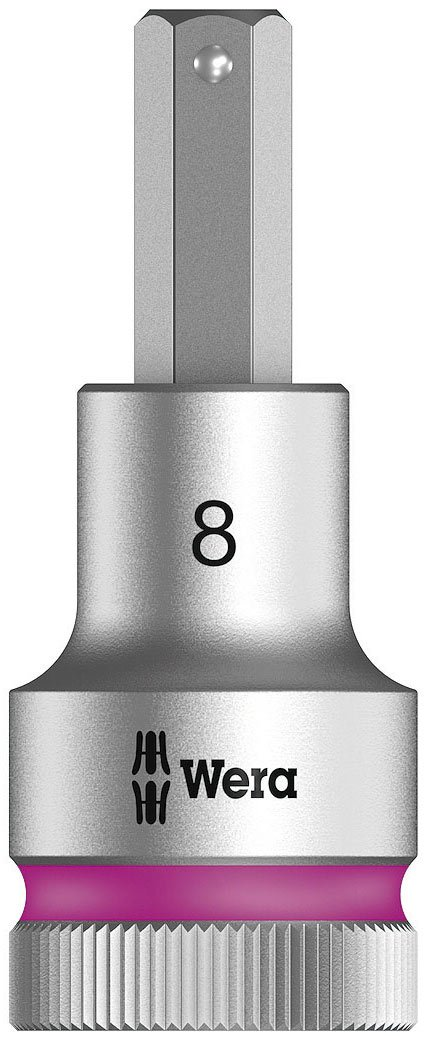 Wera 05003824001 Zyklop Bit Socket with Holding Function 8740 with 1/2 -Drive, 8.0mm x 60mm