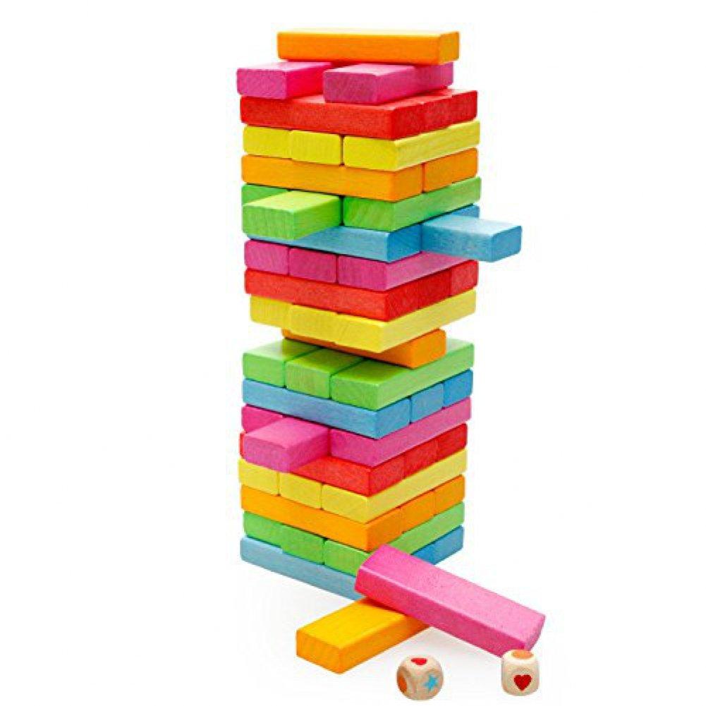 独特な店 [Xinストア]Xin Tumbling store 54 Pcs Classic Colored Tower Wooden Tumbling Tower [並行輸入品] Blocks XIN-B060 [並行輸入品] B01EH24QZG, みずらいふ:934530c9 --- dou13magadan.ru
