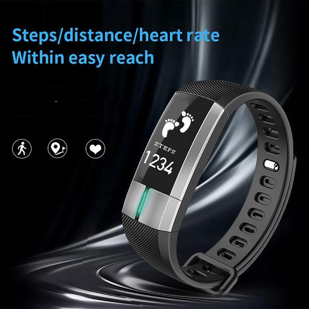 LL-Banda inteligente Frecuencia cardíaca Monitor de ECG de presión arterial Monitor de actividad de pulsera inteligente , black: Amazon.es: Deportes y aire ...