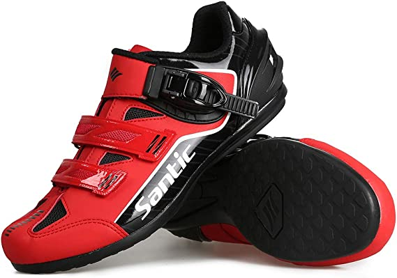 Santic Cycling Shoes Men Spin Unlocked Bike Bicycle Road Biking Lock Shoes MTB Cycling Accessories Self-Locking Shoes