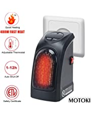 Motoki UK Plug New Fast Personal Heater Portable Heating Mini-heating with Thermal Ceramic Technology for Heating the Outlet 400Watts