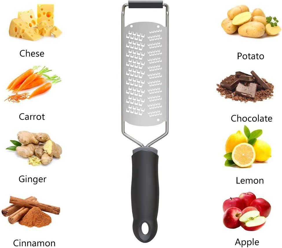 2 in 1 Rallador de Lim/ón acero inoxidable Rallador Para Queso Jengibre WD/&CD Rallador cocina Frutas Ajo C/ítricos Verduras