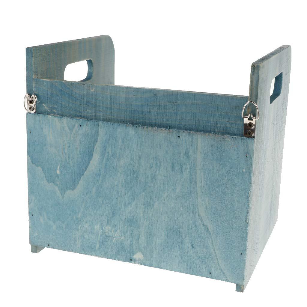 Sharplace Caja de Almacenamiento de Madera Doble Capa Cajones Mesa Azul Oficina Hogar - Azul Mesa 824ff1