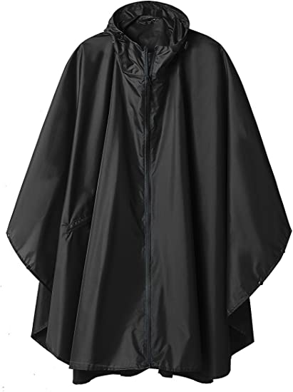 Rain Poncho Hooded Jacket with Pockets (Adult)