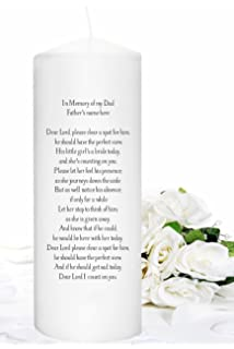 Amazon.com : In Memorial Candle for weddings Memory Candle to ...