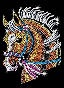 Sequin art blue horse sparkling arts and for Amazon arts and crafts for kids