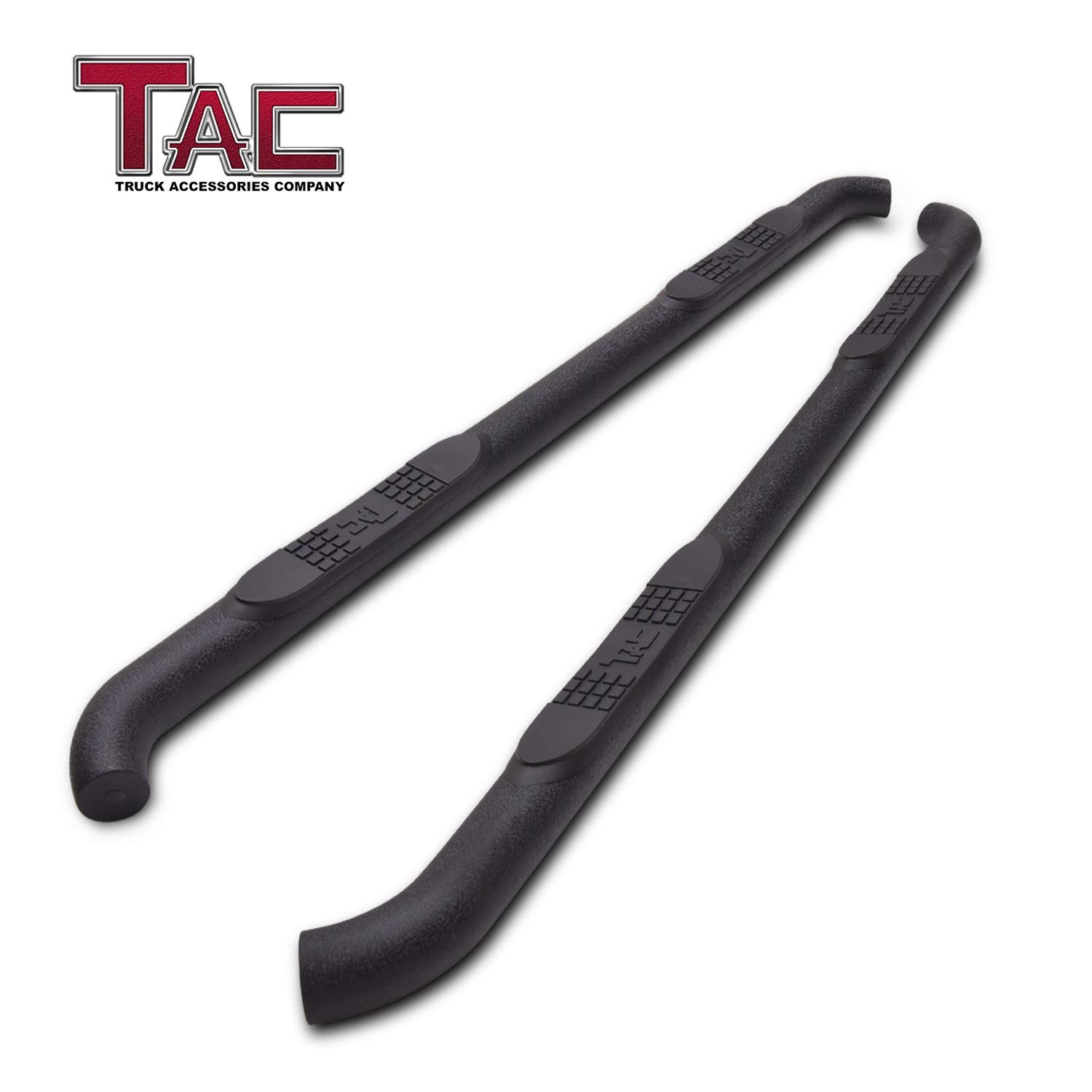 """TAC Side Steps Running Boards Fit 2011-2019 Jeep Grand Cherokee SUV 3"""" Texture Black Side Bars Nerf Bars Step Rails Running Boards Off Road Exterior Accessories (2 Pieces)"""