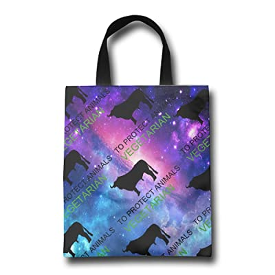 Jmzr Bag To Protect Animals Vegetarian Cattle Lover Unisex Lightweight Shopping Bags Market Bags