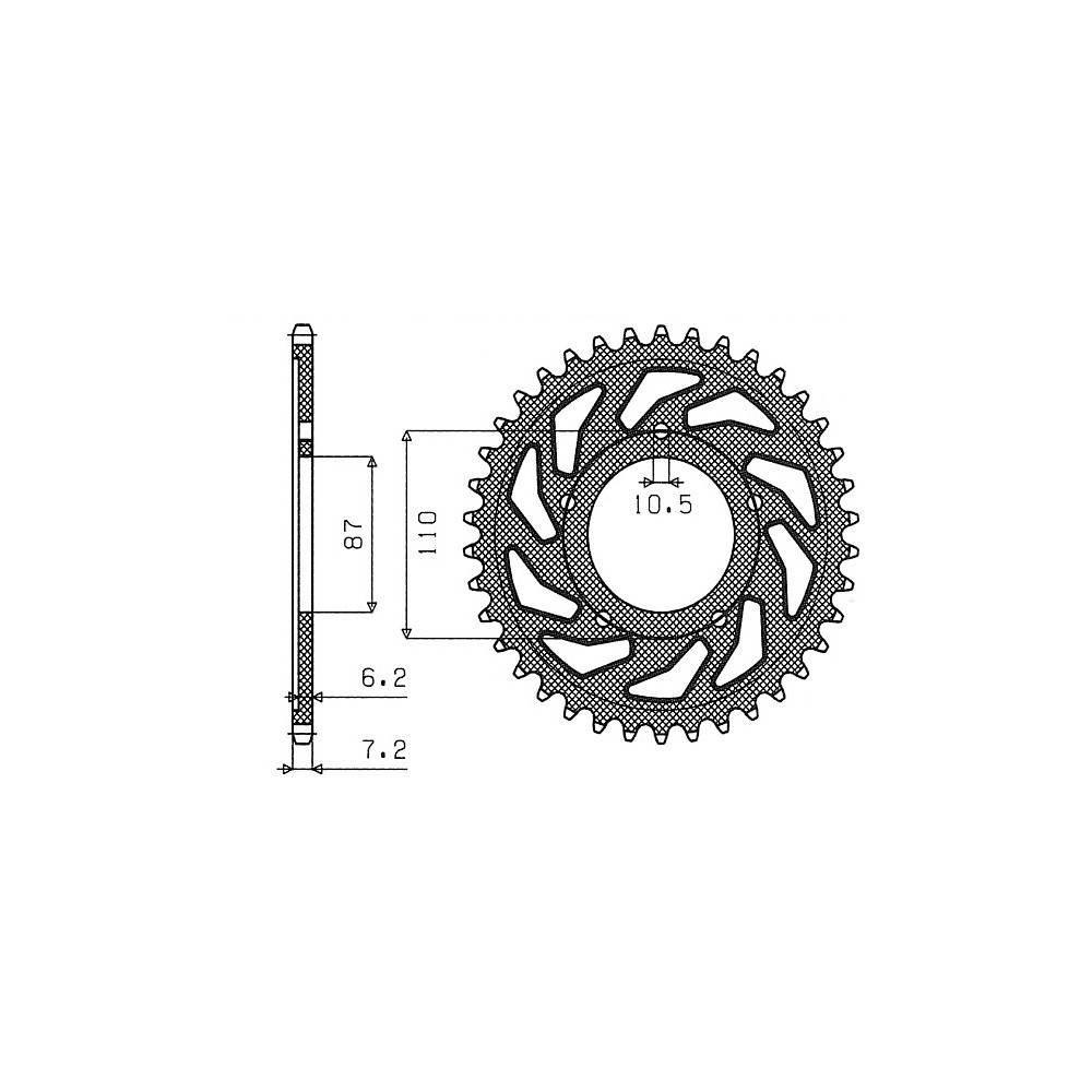 Kit Transmission pignon Cha/îne Couronne Suzuki SV S 650/CC 99//07
