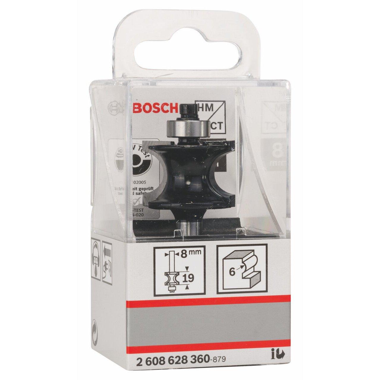 G 63 mm L 19 mm R1 6 mm Bosch Professional Zubeh/ör 2608628360 Halbstabfr/äser 8 mm