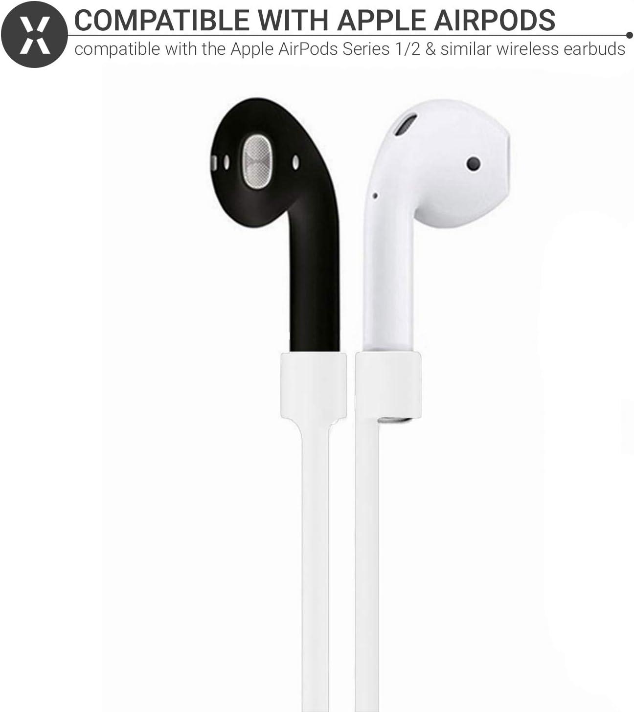 Olixar Für Airpods Anti Verlust Gurt Anti Verlust Kabel Leichtes Weiches Silikon Design Kompatibel Mit Version 1 Und 2 Airpods Airpods Pro Weiß Elektronik
