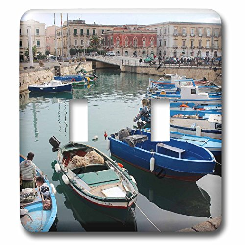 3dRose Cities Of The World - Syracuse Port In Sicily, Italy - Light Switch Covers - double toggle switch - Outlets Syracuse