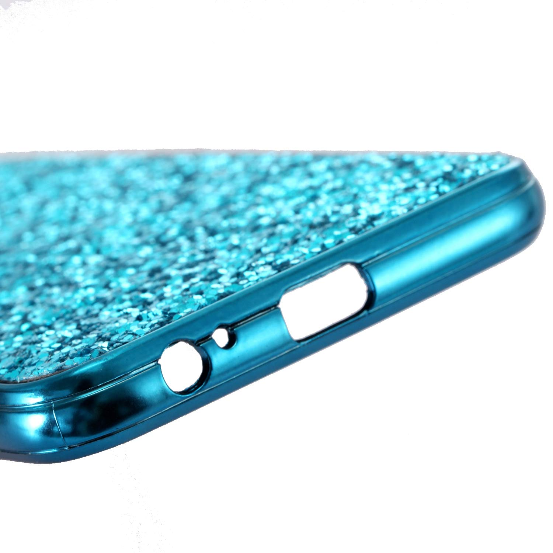 Coque pour Galaxy A6 Plus 2018 Paillettes Or TPU Souple Cadre Bumper Strass Sparkle Étui Rigide pour Samsung Galaxy A6 Plus 2018 Misstars Luxe Bling Glitter Housse Etui de Protection Antichoc Anti Rayure Ultra Fine PC Dur