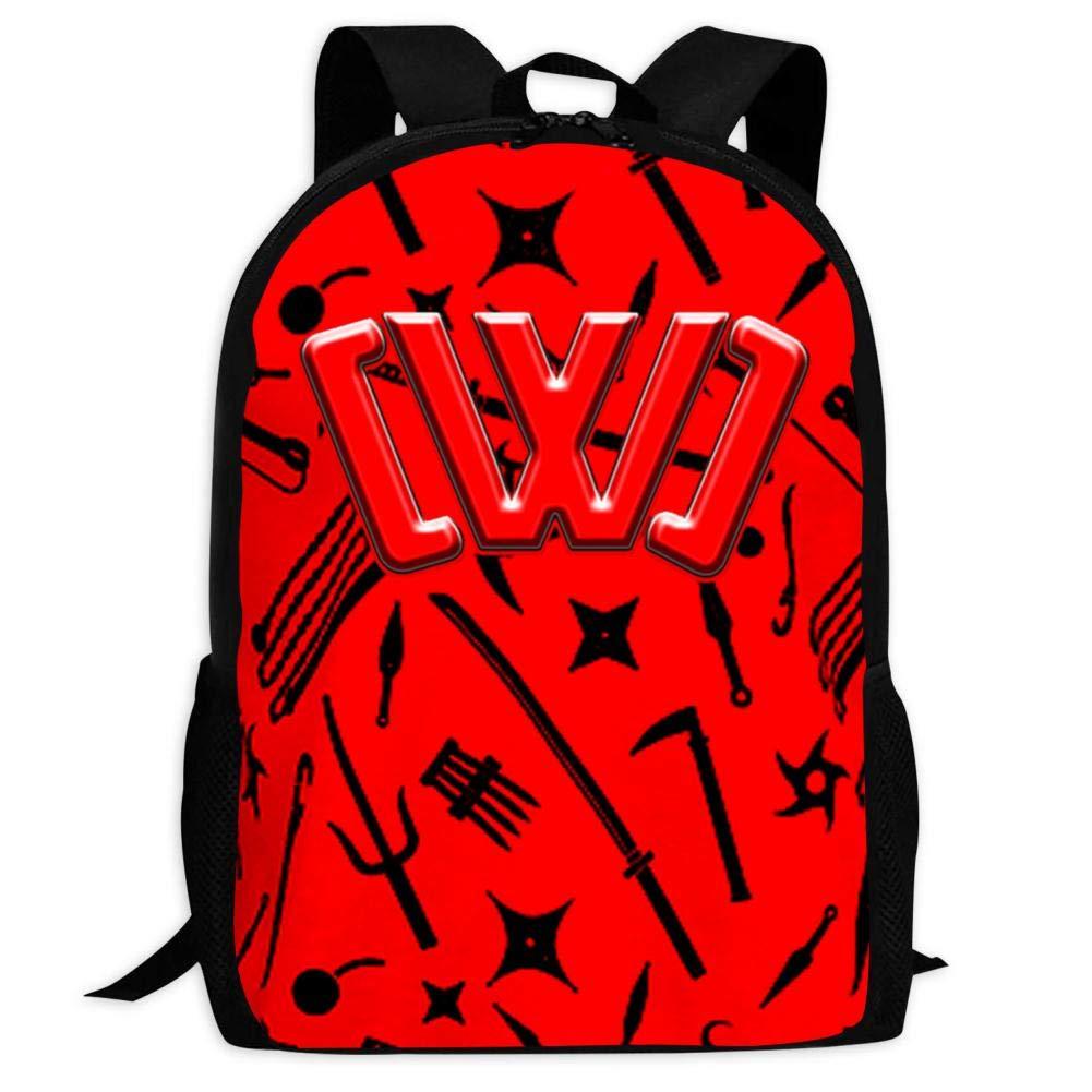 GSGSDG Kids/Youth CWC Logo Backpacks Ninja Weapon Casual School Backpack Travel Laptop Bag Durable