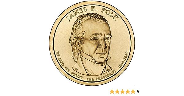 Free Ship 2009-D James Polk Presidential Dollar Satin Unc Cello Mint Set