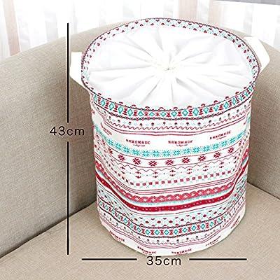 Luckyfree Panier à linge en coton d'vêtements sales jouets Panier Panier de stockage des débris, un snack 35 * 43cm