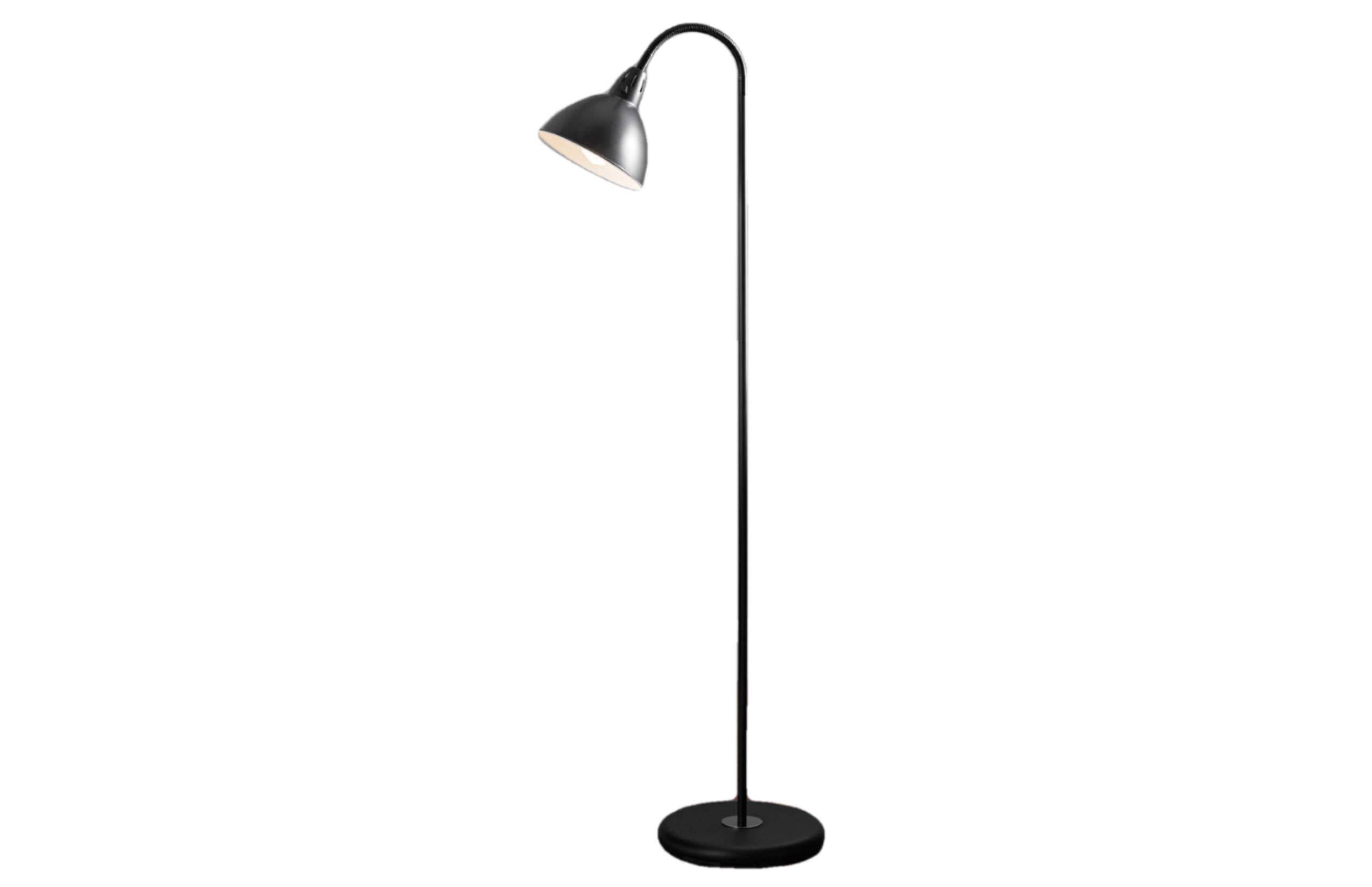 Mainstays Gooseneck Floor Lamp (Black) -  - living-room-decor, living-room, floor-lamps - 61FP43LbUJL -