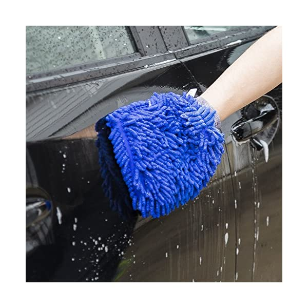 Ultimate Car Wash Mitt 2 Pack Premium Chenille Microfiber Wash Mitt Wash Glove Lint Free Scratch Free Regular Size