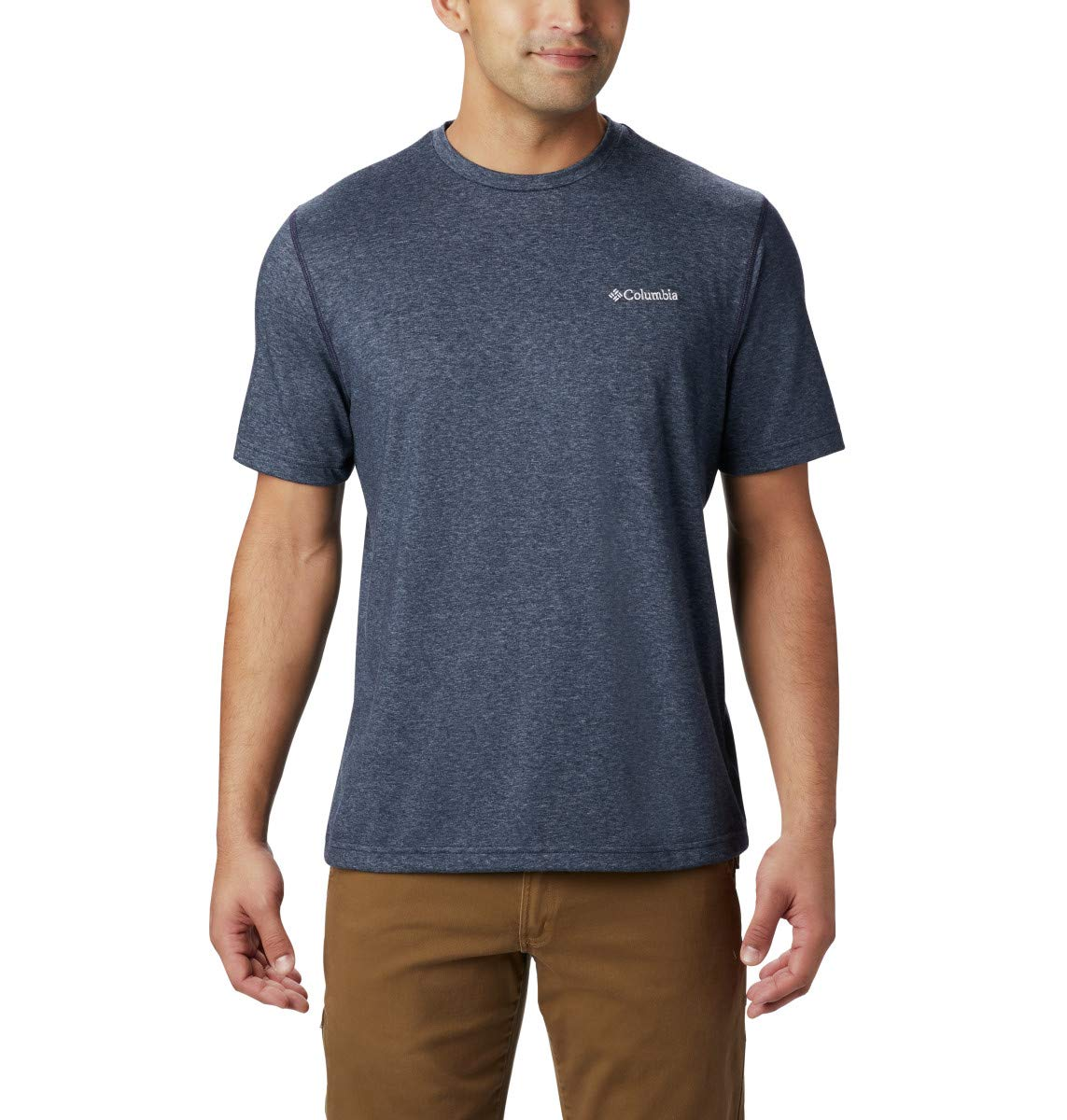 Columbia Men's Thistletown Park Crew Short Sleeve Tee, Small - Nocturnal Heather