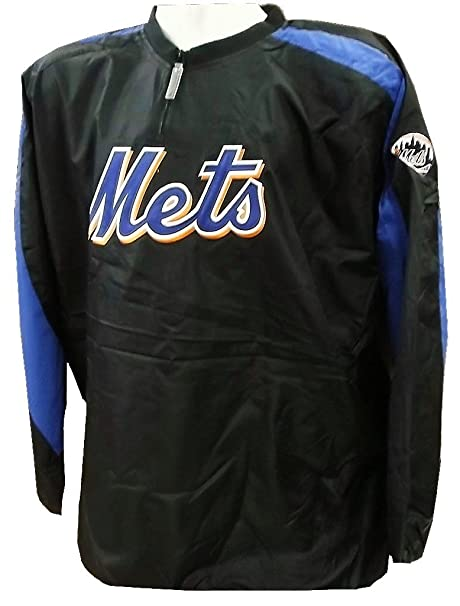 brand new c5776 7ff0a Amazon.com : VF York Mets MLB Mens Majestic 1/4 Zip ...