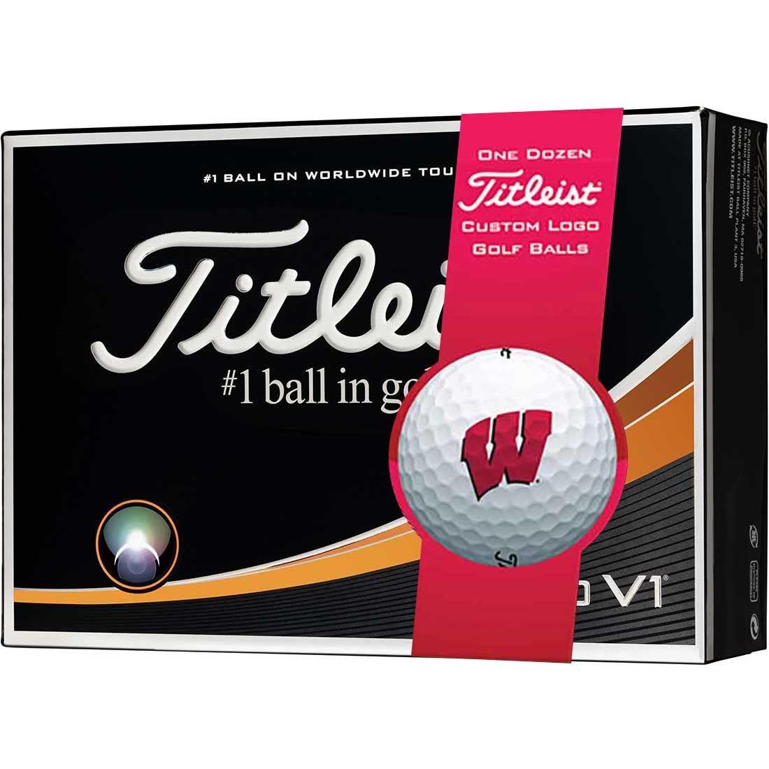 Titleist Pro v1 NCAAウィスコンシン州ゴルフボール|   B072K36R8L