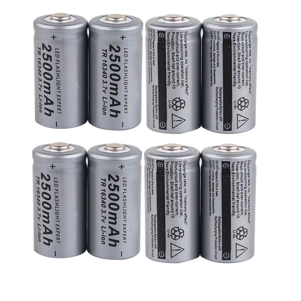 8/10 Pcs TR 16x34mm Pack Rechargeable Batteries Li-ion 3.7V 2500mAh Battery (8pcs)