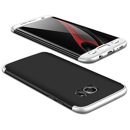 JMGoodstore Funda Galaxy S7 Edge,Carcasa Samsung S7 Edge,Funda 360 Grados Integral para Ambas Caras+Cristal Templado,[360°] 3 in 1Slim Fit Dactilares ...