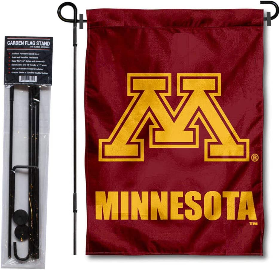 College Flags & Banners Co. University of Minnesota Garden Flag and Flag Stand Pole Holder Set