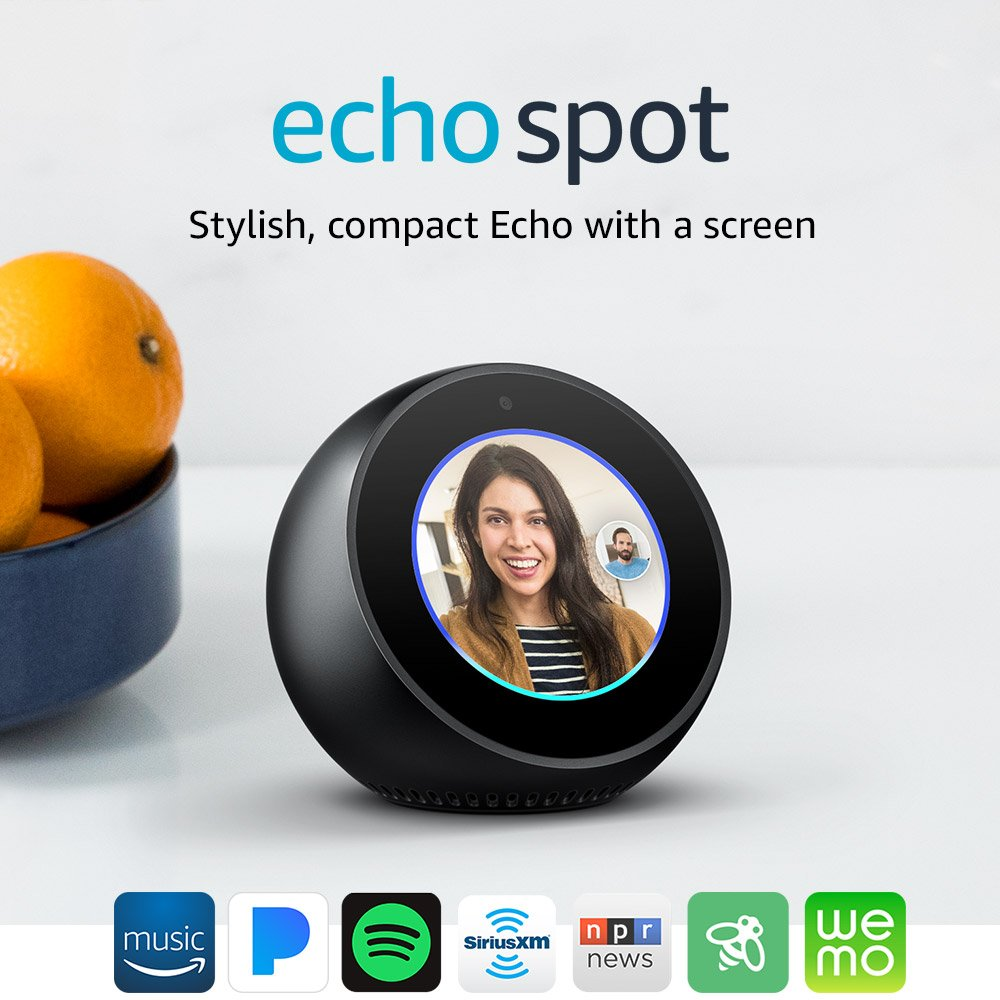 BUY Two - Echo Spots - Smart Display with Alexa