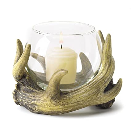 371c6acb8e9 Amazon.com  Rustic Antler Candleholder - Style 38444  Home   Kitchen