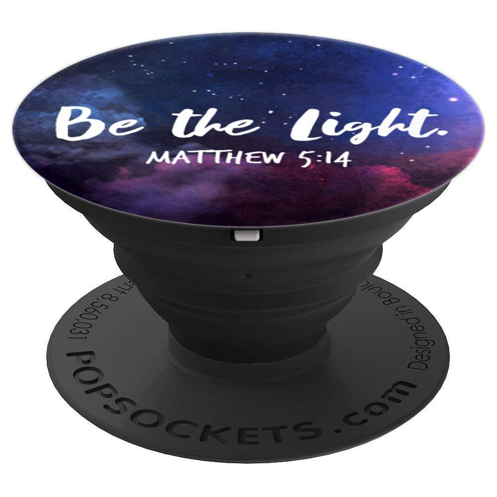 Matthew 5:14 Bible Verse Christian Faith Inspiring Quote - PopSockets Grip and Stand for Phones and Tablets