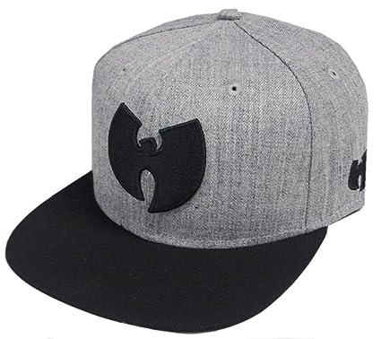 Amazon.com  Wu-Wear Wu Symbol Logo Snapback Cap Wu-Tang Clan Heather ... 6dcadb1a8d9