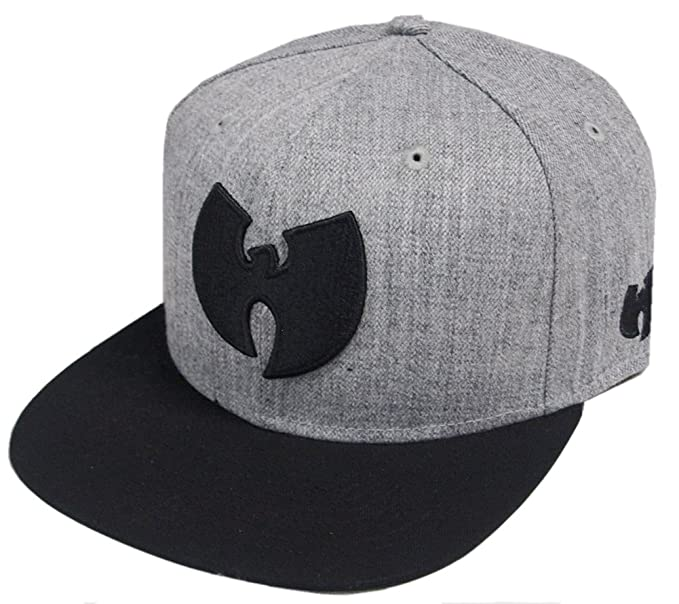 d945ed19561 Amazon.com  Wu-Wear Wu Symbol Logo Snapback Cap Wu-Tang Clan Heather ...