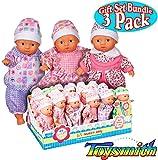 mini baby dolls - Toysmith Lil Newborn Mini Baby Dolls (6 Inch) Gift Set Bundle - 3 Pack (Assorted)