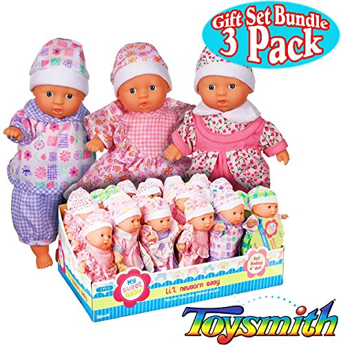 Toysmith Newborn Mini Dolls Bundle