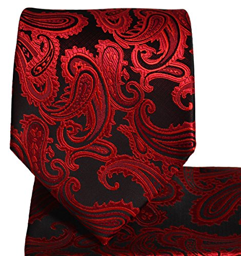 Paisley Men's Tie and Pocket Square Sets