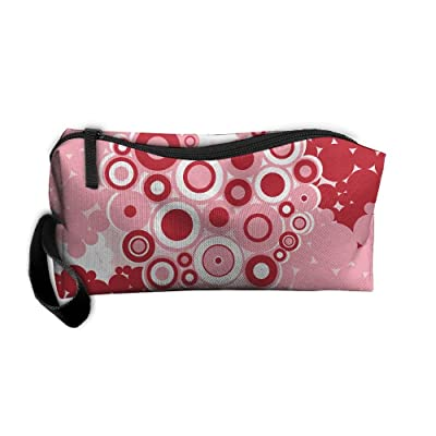 Love Heart Cosmetic Bags Brush Pouch Makeup Bag Zipper Wallet Hangbag Pen Organizer Carry Case Wristlet Holder