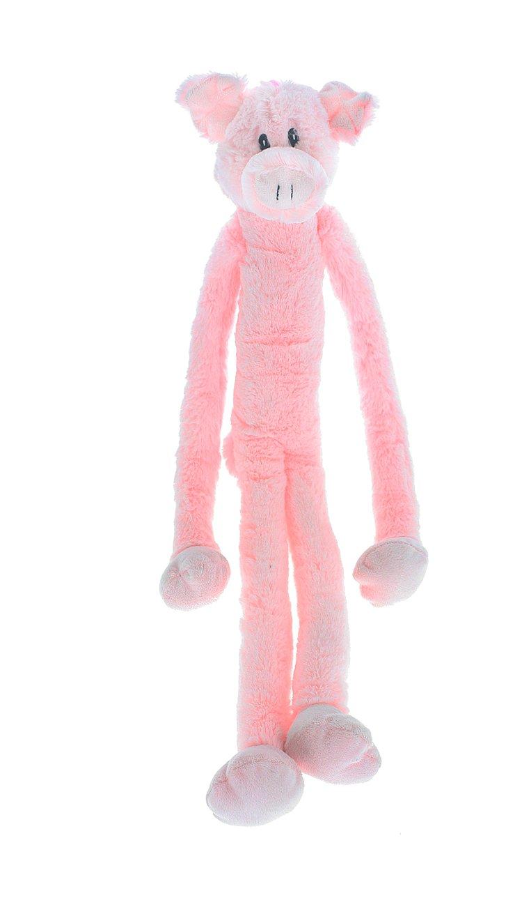 Multipet Swingin Slevin XXL Oversized 30-Inch Pink Pig Plush Dog Toy