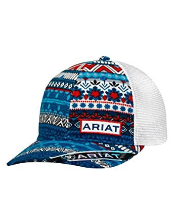 ed00a7168822f ... reduced ariat womens snap back baseball cap red white blue os at amazon  womens clothing store ...