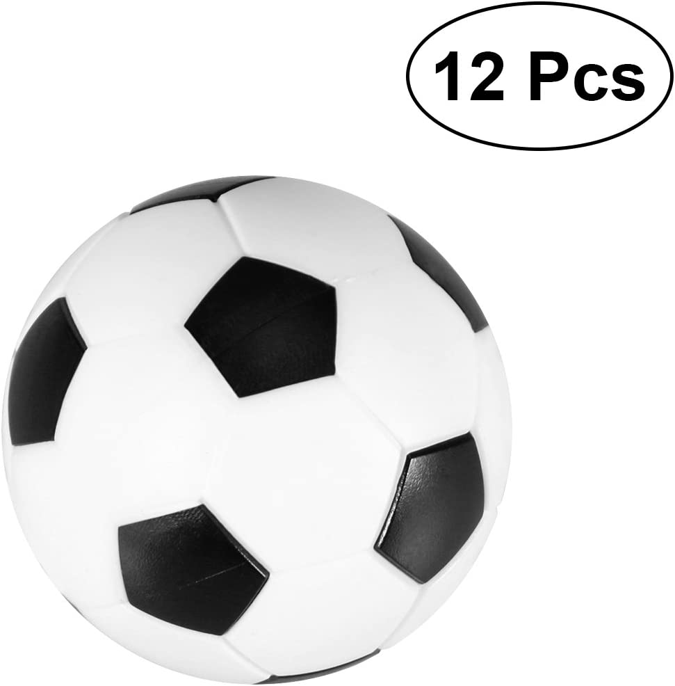 VORCOOL Mesa de futbolín 12pcs 36MM Foosball Reemplazo Blanco y Negro Tablero de Bolas de Juego Tamaño de la Mesa: Amazon.es: Deportes y aire libre