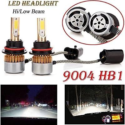 180W 9004 HB1 LED Headlight Bulbs Hi-low Beams 6000K XENON White All-in-One Kit Super Bright Plug & Play - 2 Year Warranty