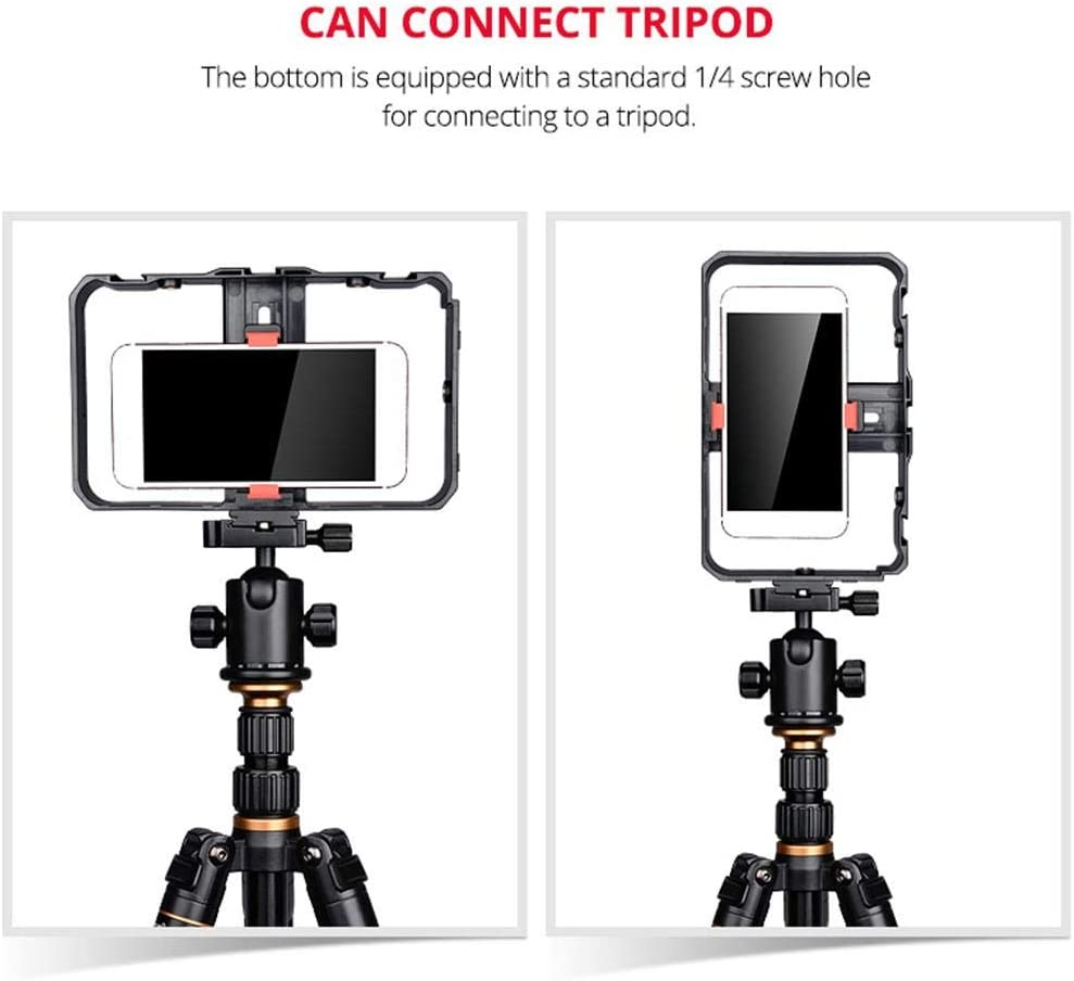 Melo-bell Smartphone Video Rig Kit Handheld Grip Stabilizer Mount Live Stream Videomaker Filmmaking Case for Videomaker Videographer