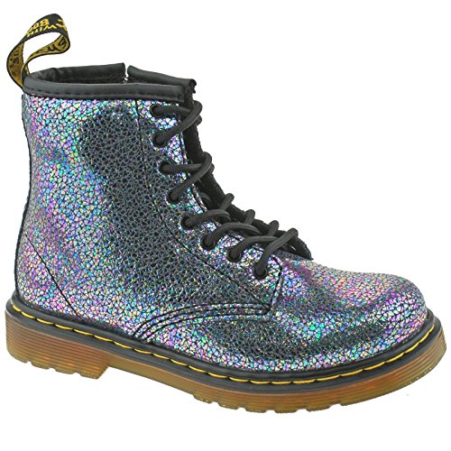 3394c1b2892c2 Galleon - Dr. Martens Kid's Delaney IE Lace Fashion Boots, Grey Leather, 5  Big Kid M UK, 6 M