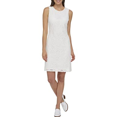 2d452b61170 Tommy Hilfiger Womens Lace Sleeveless Wear to Work Dress at Amazon ...