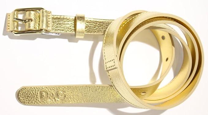 Dolce   Gabbana - Ceinture - Femme Or or 90 cm  Amazon.fr  Vêtements ... 22db9da1862