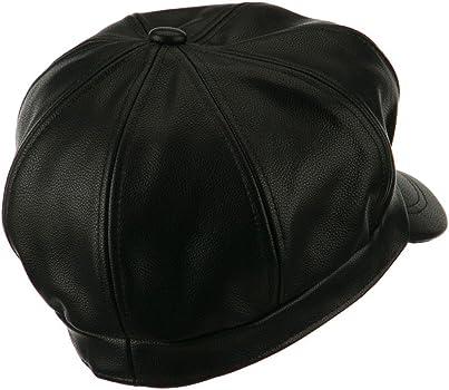 a2bb7f262da Faux Leather Spitfire Hat - Black. City Hunter Faux Leather Spitfire Hat -  Black S-M