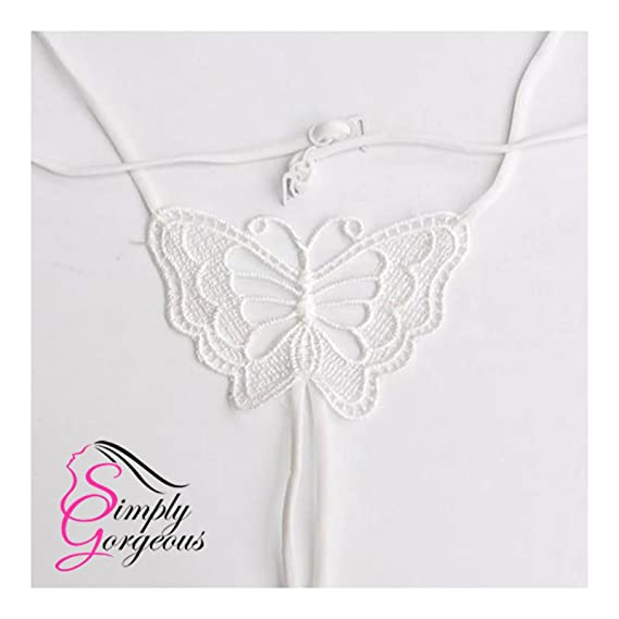 Correa de sostén elástico del sujetador de la mariposa grande del cordón blanco: Amazon.es: Ropa y accesorios