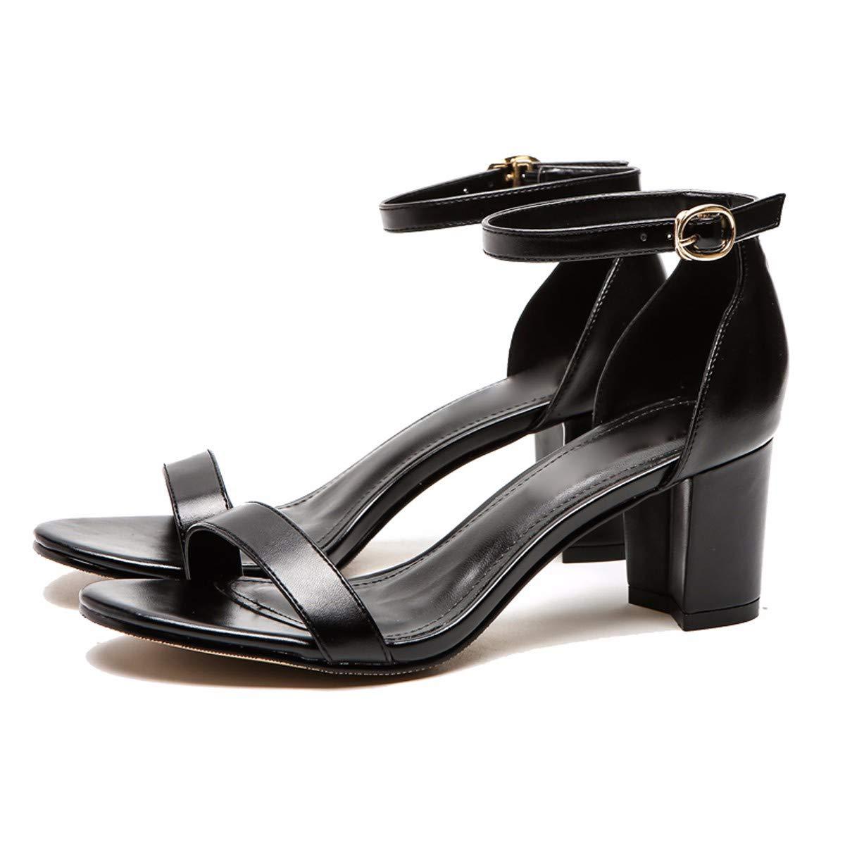 KPHY-Einzelne Schnallen Damenschuhe Knoten und Heels Mittleren und Niedrigen Heels Retro - Einzelne Schuhe Lack - Platz Endet Sandalen.